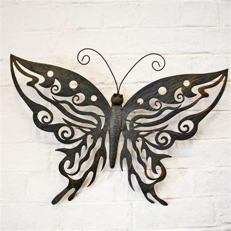 Decorative Metal Butterfly Garden Wall Art Design Black Butterfly Garden Wall