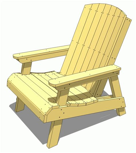 Wood Lawn Chairs Plans by Wood How To Build Adirondack Lawn Chair Pdf Plans