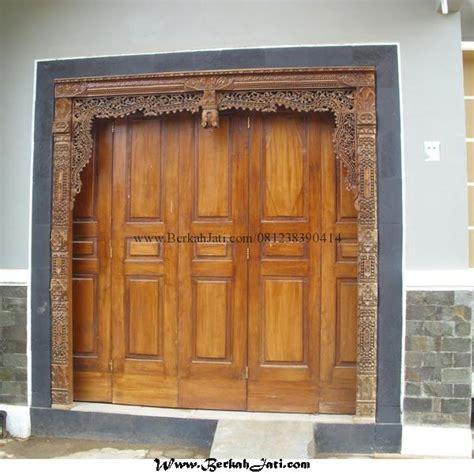 Gebyok Pintu Gebyok Ukir Jawa Pintu Rumah Kusen pintu minimalis kombinasi ukir gebyok berkah jati