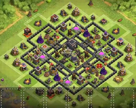 layout coc th9 9 best coc town hall th9 defense bases 2017 bomb tower