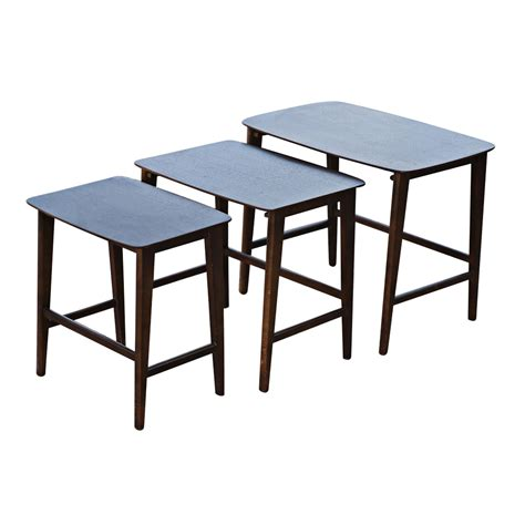 Danish Mid Century Modern Set of (3) Nesting Tables