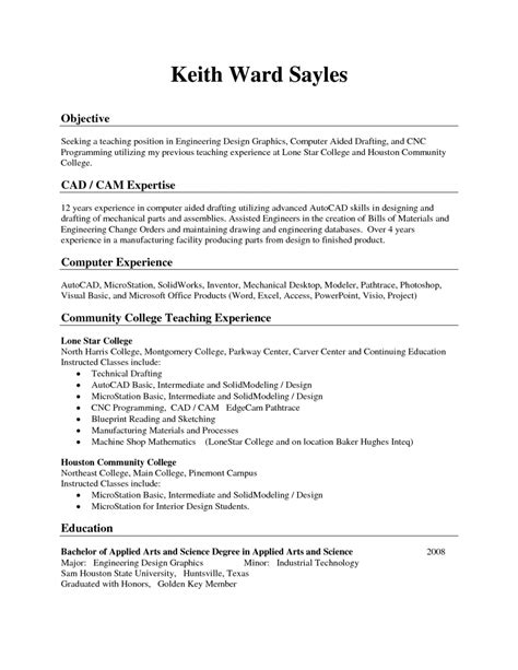 exles of resumes exle good resume with no job