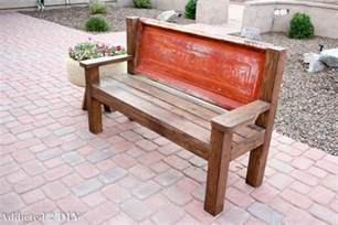 how to build a rustic bench rustic tailgate bench tutorial addicted 2 diy