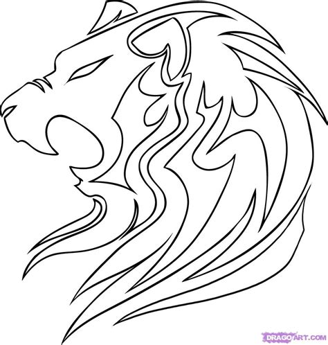 pattern drawing lion how to draw a tribal lion step by step tribal art pop