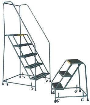 aircraft maintenance step ladders standard rolling ladder loaded casters movable