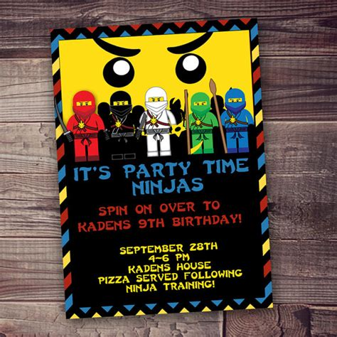 printable ninjago invitations free ninja birthday invitation printed invitations free