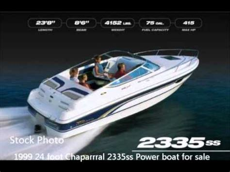24 ft chaparral boats for sale 1999 24 foot chaparral 2335ss power boat for sale