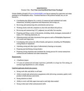 12 paralegal job description templates free sample