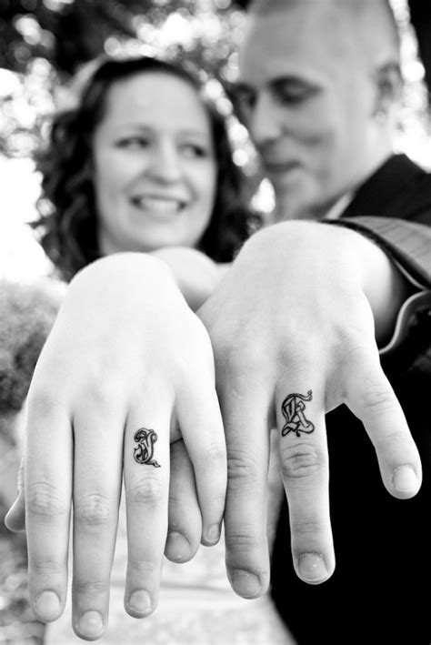 ring finger tattoos couples 40 of the best wedding ring designs