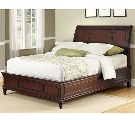 qvc beds home styles lafayette queen sleigh bed qvc com