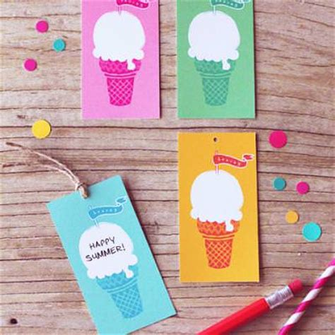 Ice Cream Gift Cards - free ice cream gift tags card ideas tip junkie