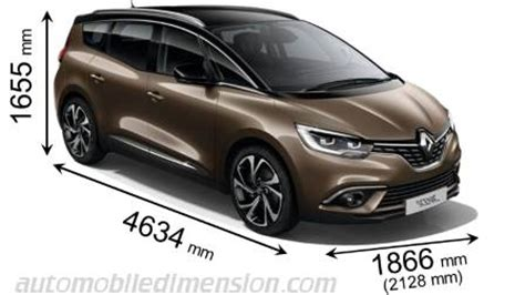 renault grand scénic 2016 dimensions, boot space and interior