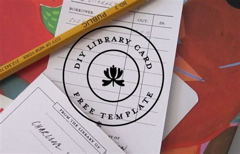 library card holders template the 63 best images about bookmarks bookplates on