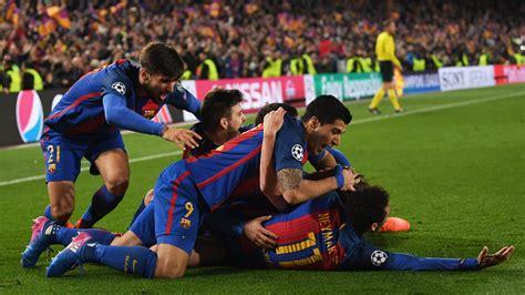 barcelona goal barcelona vs psg referee facing uefa demotion ashaiman