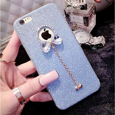 For Iphone 5 5s Soft Luxury Bling Glitter Shine luxury bling glitter bow knot phone cover for iphone 5 5s 6 6s 7 plus soft tpu