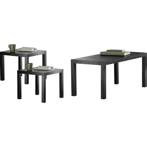 Black Coffee Table Walmart by Parsons 3 Coffee End Tables Value Bundle