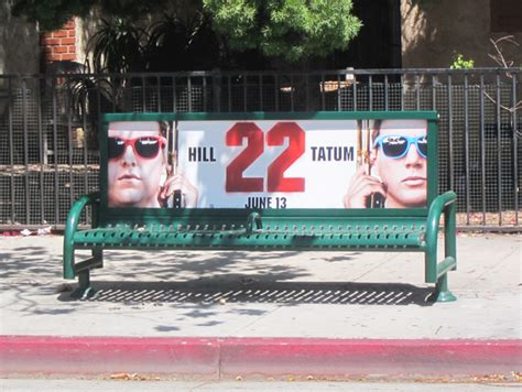 bus bench ads 187 movie ratings gun violence and street furniture ads