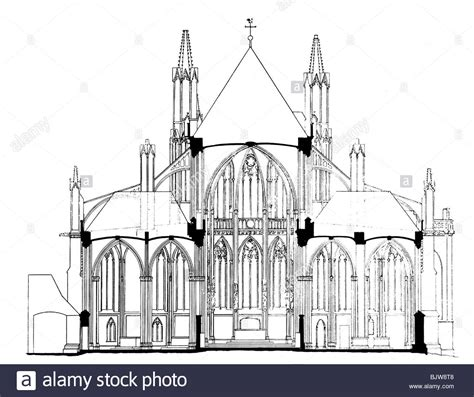 gothic architecture floor plan architecture ground plan cross section of a gothic