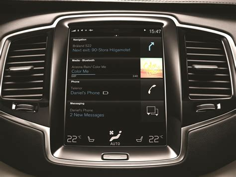 volvo home page volvo remakes the car electronics interface pictures