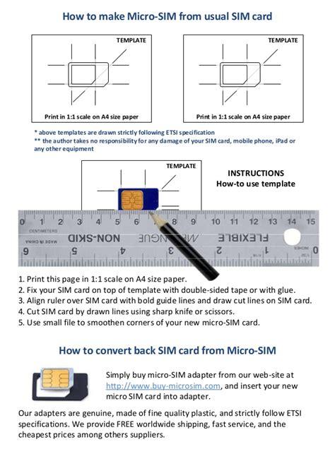 sim card cutting template micro sim template