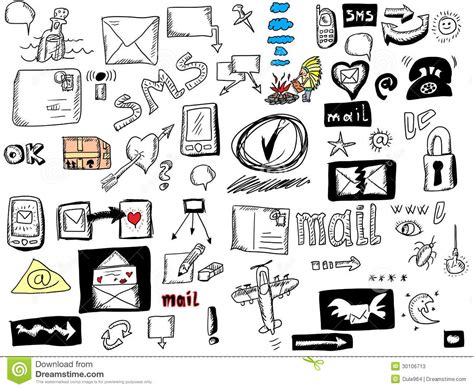 doodle bug website doodle icons for web stock photos image 30106713