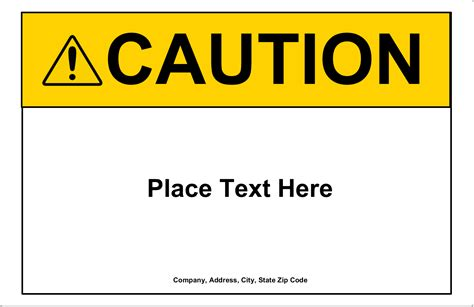 Avery 174 08126 Shipping Labels 8 1 2 Quot X 5 1 2 Quot Rectangle White Caution Sign Template