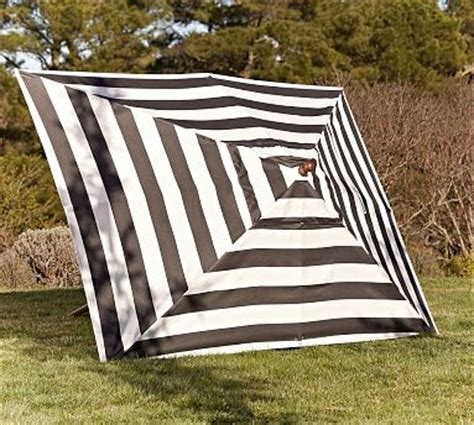 Black And White Striped Patio Umbrella Rectangular Umbrella Canopy Replacement Sunbrella R Awning Stripe Black White Traditional