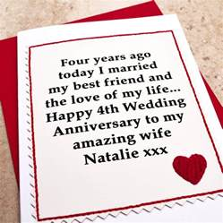 personalised 4th wedding anniversary card by arnott cards gifts notonthehighstreet