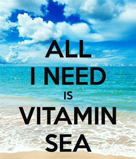 Vitamin Sea all i need is vitamin sea poster annayelisieieva keep