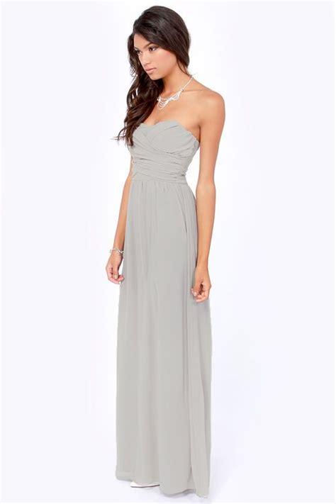 light grey dress exclusive strapless light grey maxi dress