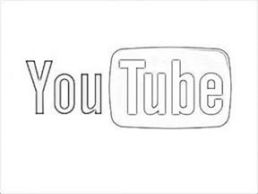 youtube logo coloring pages sketch coloring page