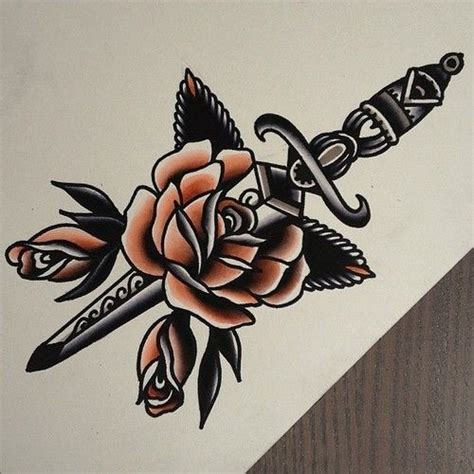 dagger through rose tattoo dagger images designs