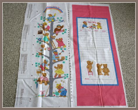 pattern for fabric growth chart growth chart fabric panel sewing pattern by