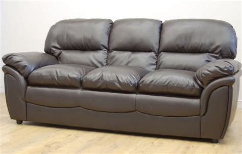 clearance rochester brown leather 3 seater sofa t780