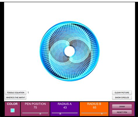 spirograph pattern generator online spirograph creator the patterns you can create are