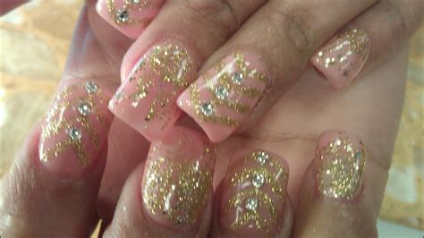 Nägel Mit Gold by Nail Designs With Gold Glitter Www Pixshark Images