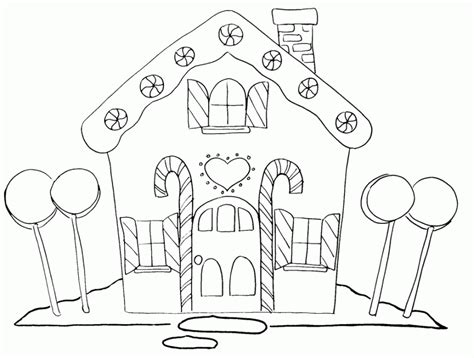 decorated house coloring pages gingerbread house coloring page coloring home