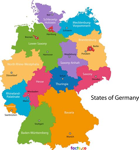 germany state map germany map blank political germany map with cities