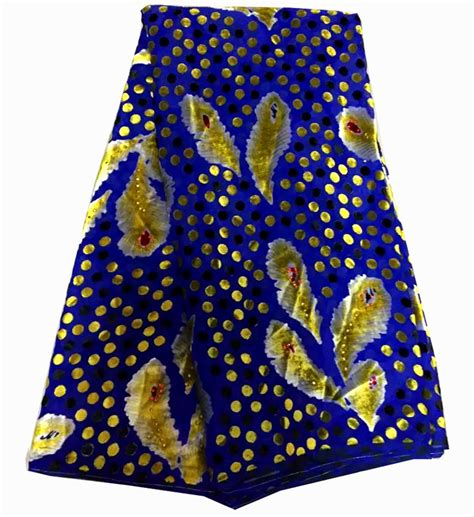 yellow royal pattern free shipping 5yards pc royal blue african velvet lace