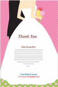 wedding thank you card template thank you cards