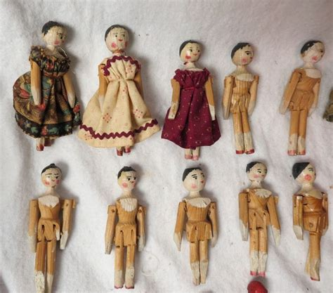 doll wooden details about antique wooden wood doll w 16 mini