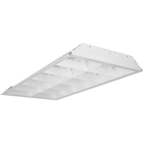 Lithonia Light Fixtures Lithonia Lighting 3 Light White Fluorescent Parabolic Troffer 2pm3ngb33218ld The Home Depot