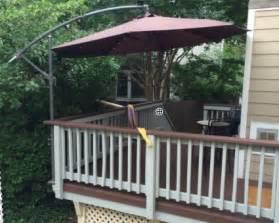 Patio Umbrella Deck Mount Mount A Cantilever Umbrella Outside The Deck Rail To Save