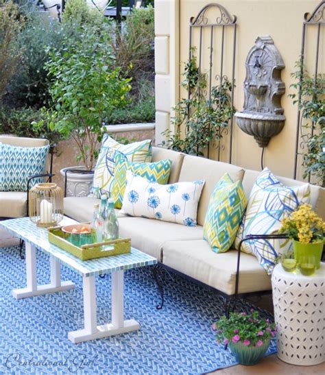 outdoor seating area courtyard seating area centsational girl