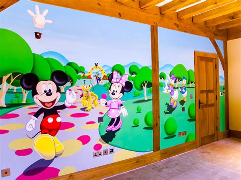 mickey mouse wall mural mickey mouse clubhouse mural sacredart murals