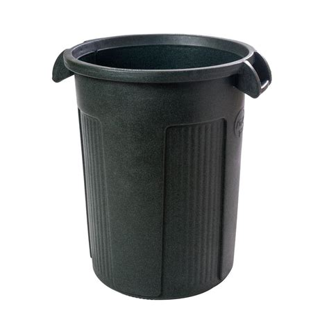 toter 44 gal green trash can rbr44 01grs the