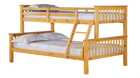 single top bottom pine bunk bed homegenies - Bunk Beds With On Bottom