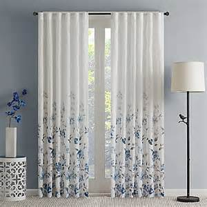 Floral Design Curtains Regency Heights Isla Floral Sheer Rod Pocket Window Curtain Panel Bed Bath Beyond