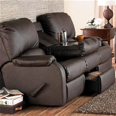 With Recliner Built In by El Ran 174 Pasadena Bonded Leather Reclining Sofa With