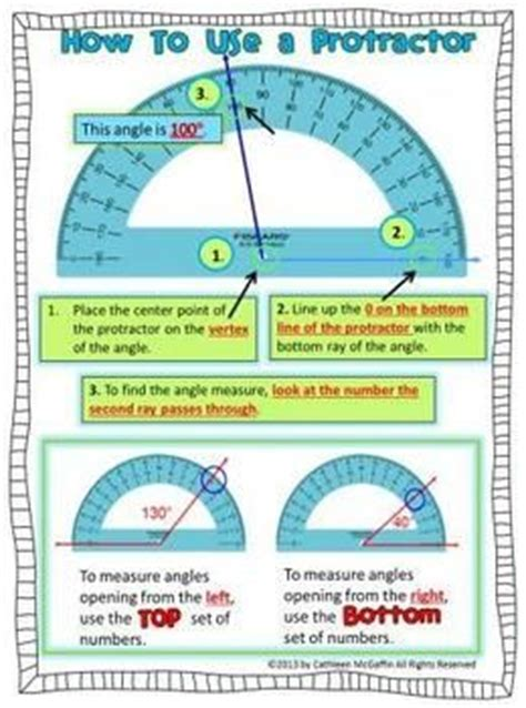 protractor printable version how to use a protractor freebie 4th grade angles